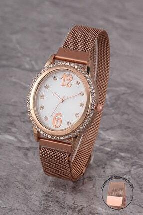 Polo55 Plkhm009r06 Kadın Saat Taşlı Şık Kadran Mıknatıslı Hasır Kordon 0