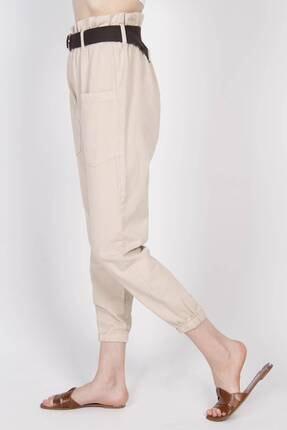 Addax Kadın Bej Cep Detaylı Pantolon PN4139 2