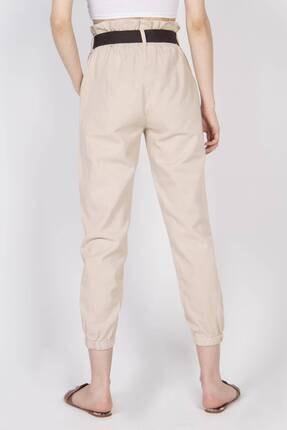 Addax Kadın Bej Cep Detaylı Pantolon PN4139 4