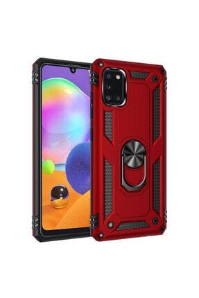 Telefon Aksesuarları A31 Yüzüklü Standlı Zırh Kılıf Kırmızı 1