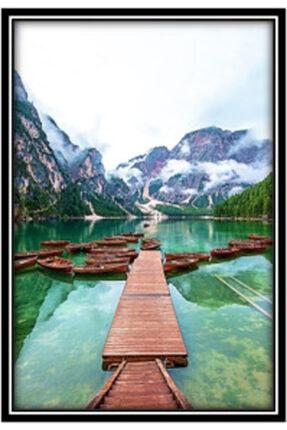 NISHPOINT Çerçeveli Poster 2li Tablo Set Yeşil Yaprak Ve Doğa Temalı 56 Cm X 76 Cm 2