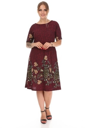 Alesia Çiçekli Kısa Kol Elbise 0