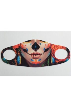 WANNA Yıkanabilir, Baskılı, Dikişsiz Kumaş Maske 0