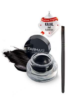 Farmasi Kajal Jel Eyeliner & Eyeliner Fırçası 0