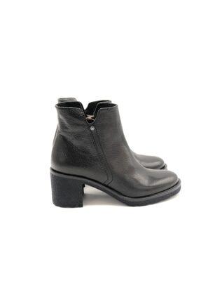 Poletto Kadın Siyah Hakiki Deri Kalın Topuklu Bot Plt18y-644 36 2