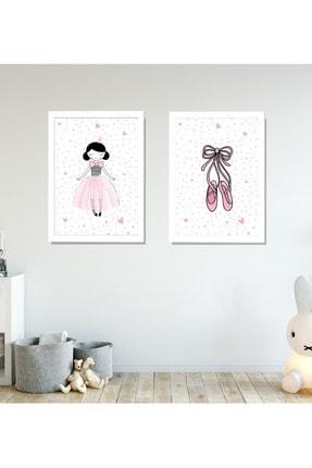 SUNNYFUNNYKIDS Prenses Balerin Ayakkabı 2 Çerçeveli Bebek Odası Tablo Set 21x30 cm Sfk93 0