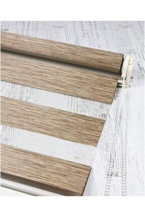 Lucra Concept Brillant Bambu Zebra Perde Etek Dilimli & Boncuklu Kahve Mz494eb 1