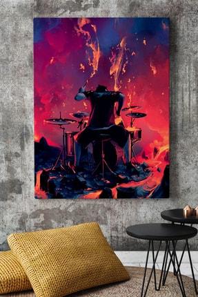KanvasSepeti Yanardağ Lavları Arasında Müzik Soyut Kanvas Canvas Tablo Dekoratif Tablolar 0