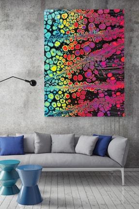 KanvasSepeti Desenli Renklerin Buluşması Soyut Kanvas Canvas Tablo Dekoratif Tablolar 0