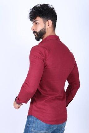 JİYAN Erkek Bordo Gömlek 2
