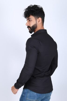 JİYAN Erkek Siyah Gömlek 2
