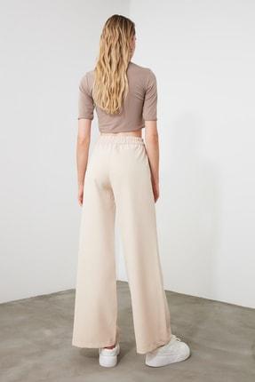 TRENDYOLMİLLA Taş Yanları Çıtçıtlı Geniş Paça Pantolon TWOSS20PL0398 3