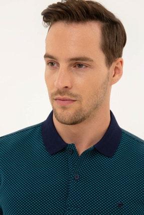 Pierre Cardin Erkek Lacivert Slim Fit Polo Yaka T-Shirt 1