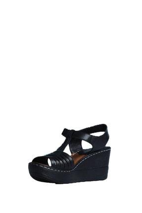 ELLANOR Kadın Siyah Günlük Sandalet 2