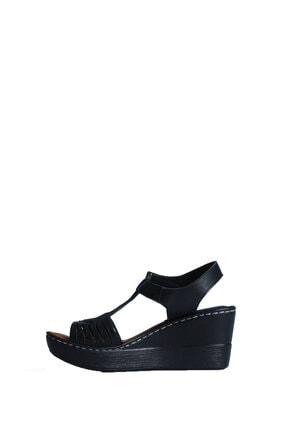 ELLANOR Kadın Siyah Günlük Sandalet 3