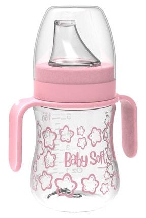 Babysoft 150 Ml Akıtmaz Plastik Suluk Pembe Kız / Erkek 0