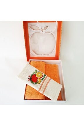 Sanalbolluk Portakal Resimli Mutfak Havlusu İkili Paket 3