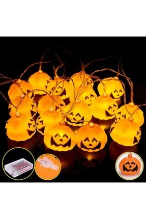 Pi İthalat Balkabağı Şekilli Pilli Cadılar Bayramı Halloween Süsleme 1 1
