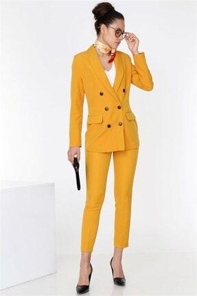 TEORA FASHION Boyfrıend Ceket Kemerli Pantolon Takım 0