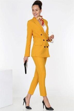 TEORA FASHION Boyfrıend Ceket Kemerli Pantolon Takım 1