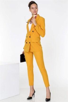 TEORA FASHION Boyfrıend Ceket Kemerli Pantolon Takım 2