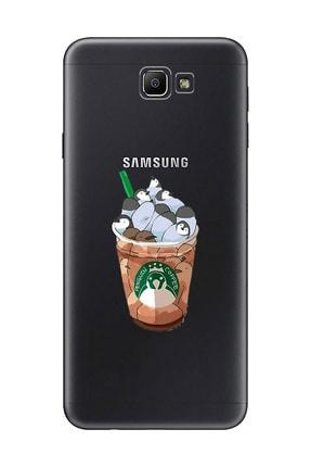 Mupity Penguen Kahve Tasarımlı Samsung J7 Prime Şeffaf Telefon Kılıfı 0