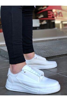 BOA Erkek Beyaz Kalın Taban Gizli Bağcık Yeni Sezon Erkek Ayakkabı Ba0115 3