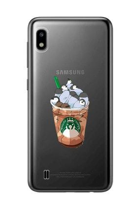 Mupity Penguen Kahve Tasarımlı Samsung A10 Şeffaf Telefon Kılıfı 0