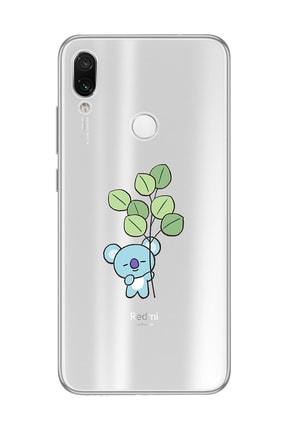 Mupity Yapraklı Koala Tasarımlı Xiaomi Redmi Note 7 Şeffaf Telefon Kılıfı 0