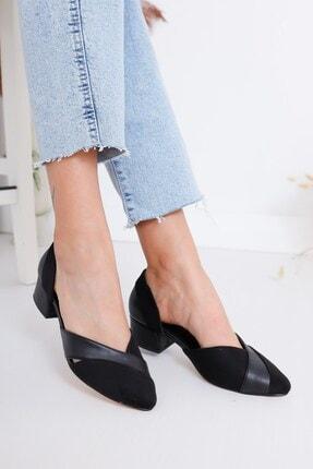 Hayalimdeki Ayakkabı Leslie Kadın Siyah Süet Topuklu Ayakkabı 4