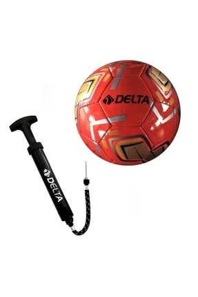 Delta Tempo 5 Numara Dikişli Futbol Topu + Top Pompası 0