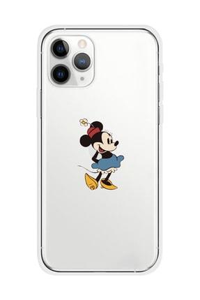 Mupity Iphone 11 Pro Şeffaf Minnie Tasarımlı Telefon Kılıfı 0