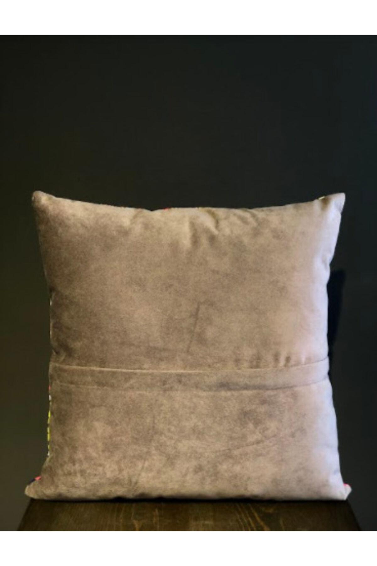 Household Kırlent, Boncuk Elyaf Dolgulu Yıkanabilir Kılıflı Lüks Kırlent 40x40cm