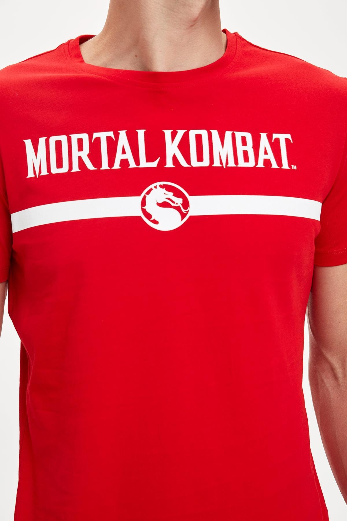 Defacto Mortal Combat Lisanslı Slim Fit Bisiklet Yaka Tişört 2