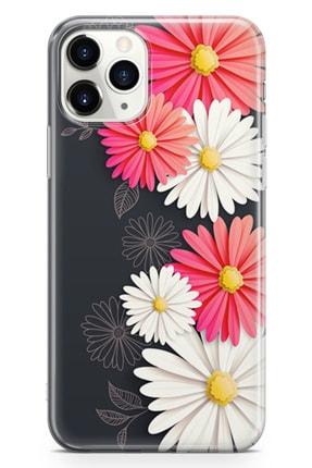 Lopard Apple Iphone 11 Pro Kılıf Papatyalar Acarken Arka Kapak Koruma Desenli Full Koruyucu 0
