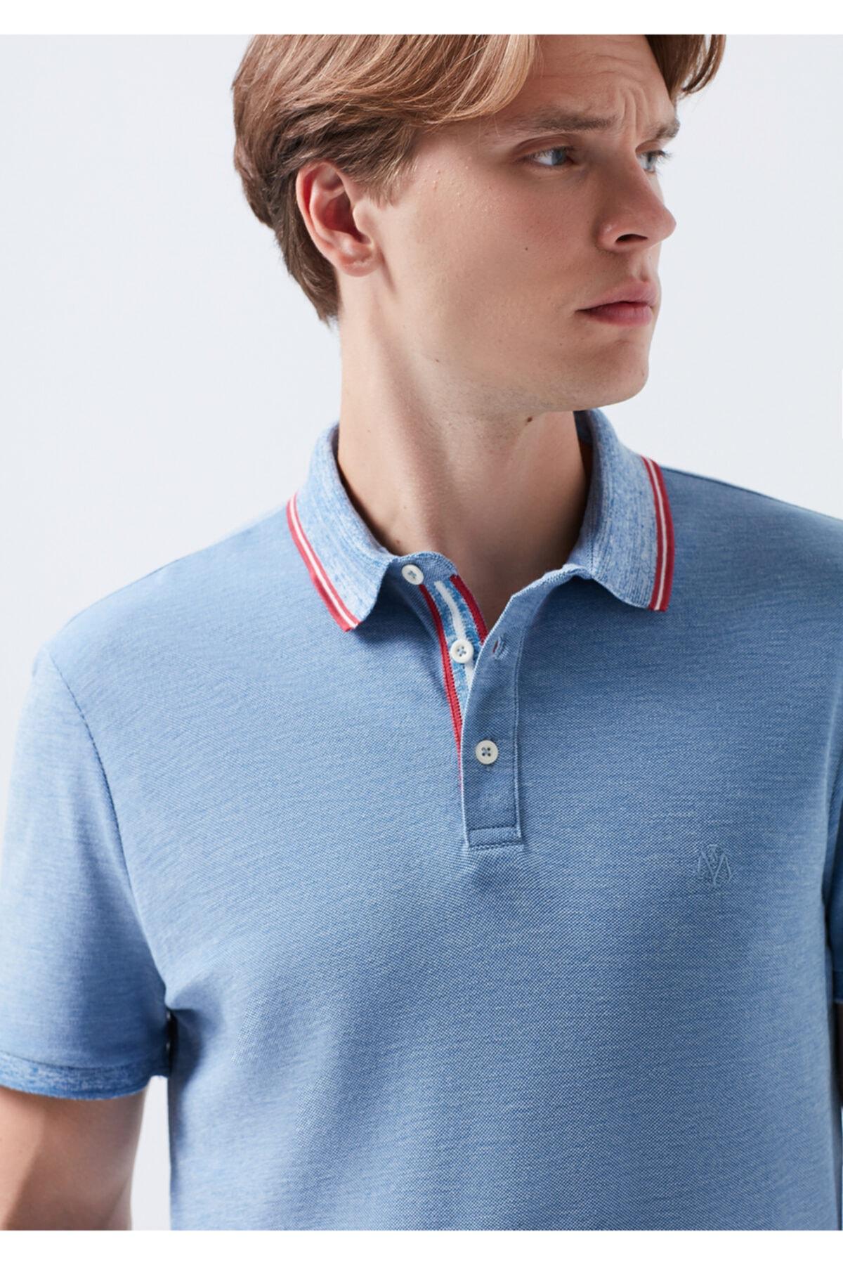 Erkek Mavi Polo Tişört