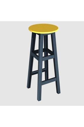 Arbre Bar Taburesi 80 Cm - Çelik Mavi Iskelet- Tabla Renk Seçenekli 0