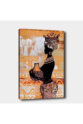 Shop365 Afrikalı Kız Kanvas Tablo 45 X 30 Cm Sb-28424 0