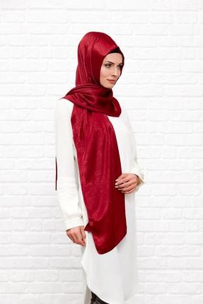 Silk Home Kadın Vişne Rengi Bambu Ipeği Şal 1