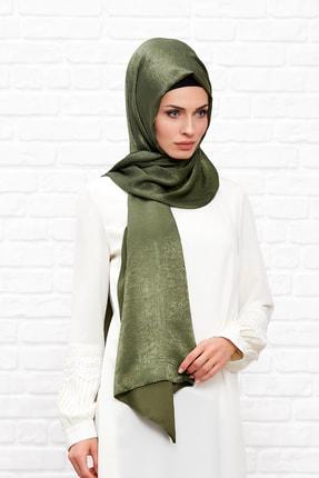Silk Home Kadın Haki Bambu İpeği Şal 1