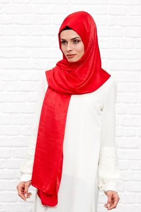 Silk Home Kadın Kırmızı Bambu İpeği Şal 0