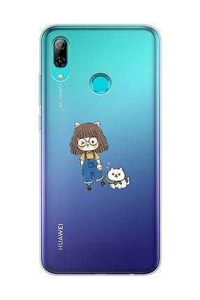 Mupity Şeffaf  Sevimli Dostlar Tasarımlı Huawei P Smart 2019 Telefon Kılıfı 0