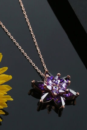 Tubiss Takı Lotus Çiçeği Gümüş Kolye 1