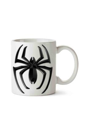 MET DESİGN Beyaz Spider Man Venom Porselen Kupa Bardak 0