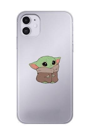 Mupity Bebek Yoda Tasarımlı Iphone 11 Şeffaf Telefon Kılıfı 0