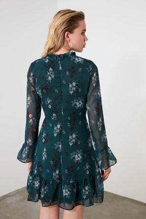 TRENDYOLMİLLA Yeşil Çiçek Desenli Elbise TCLAW19LJ0076 3