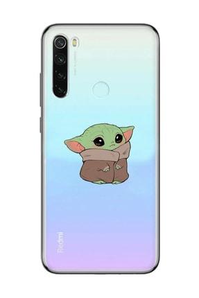 Mupity Bebek Yoda Tasarımlı Red Mi Note 9 Şeffaf Telefon Kılıfı 0