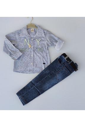 Erkek Çocuk Kot Pantolon Gomlekli Takım GLPCSKN1274