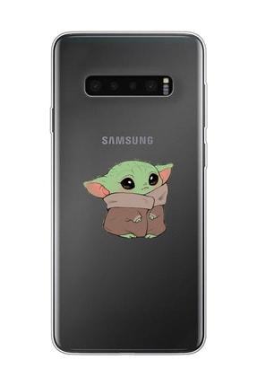 Mupity Bebek Yoda Tasarımlı Samsung S10 Şeffaf Telefon Kılıfı 0