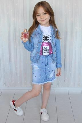 Öyküm Moda Kids Kız Çocuk Kot 3'lü Kombin Takım 0